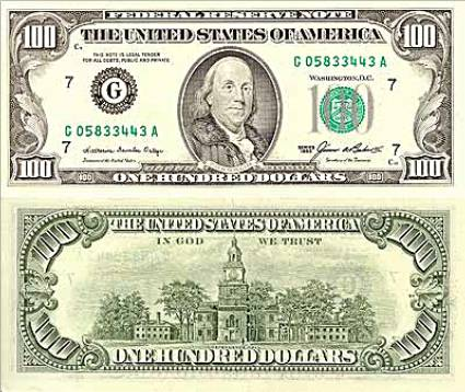 100 Dollar Bill Original